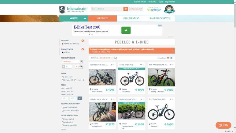 Gebrauchtes Elektrofahrrad bei Bikesale.de kaufen