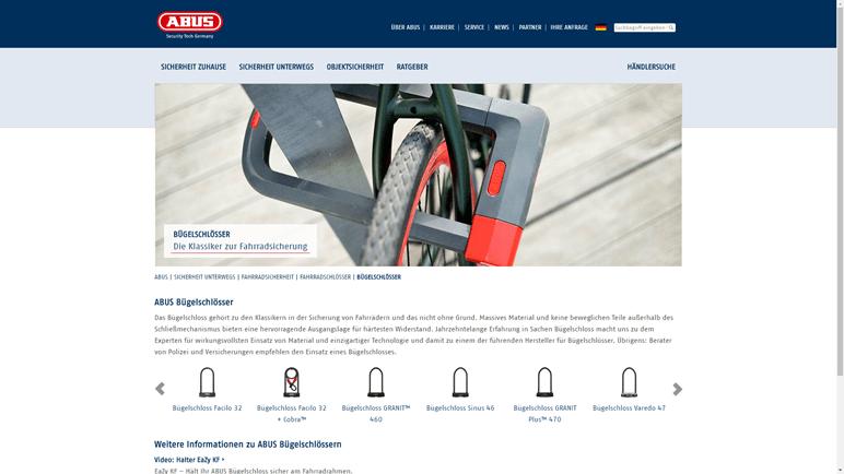 Vergleich E-Bike Diebstahlschutz - ABUS Fahrradschloesser