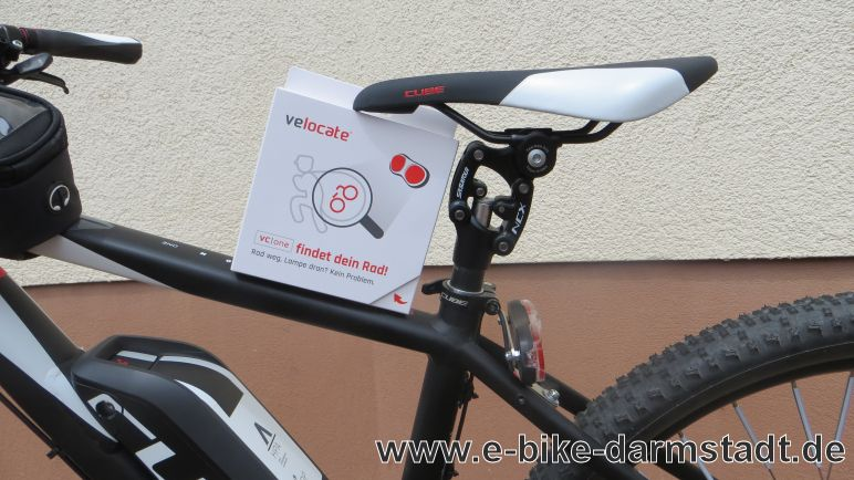 velocate vc one gps tracker e bike und pedelec. Black Bedroom Furniture Sets. Home Design Ideas