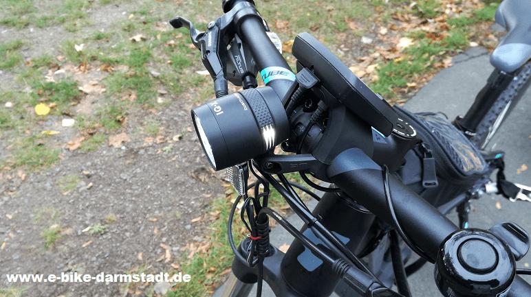 E-Bike Pedelec Beleuchtung Busch und müller Lenkerhalterung für Bosch Intuvia