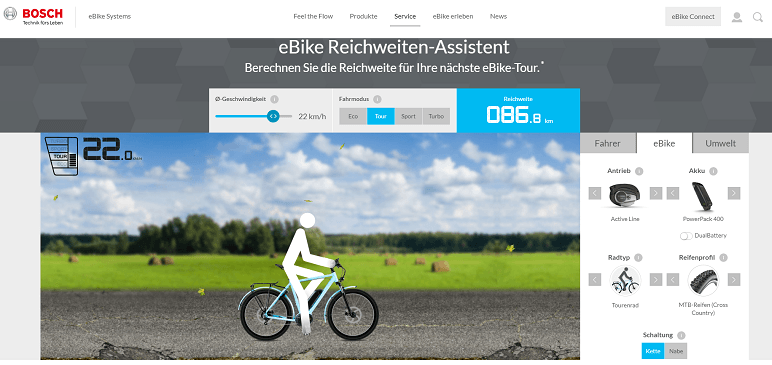 Akku-Reichweite E-Bike und Pedelec